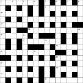 Squares Empty British Crossword Grid . Template For Your Design poster