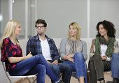 stock photo of ethnic group  - group therapy - JPG