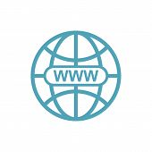 Www Icon In Modern Color. World Wide Web Concept Globe Icon Set. Planet Web Symbol Set. Globe Icons  poster