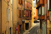 Medieval Street In Albi France poster