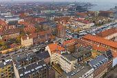 Copenhagen Center Skyline City View At The Autumn poster