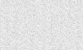 Binary Code Black And White Background With Two Binary Digits, 0 And 1 Isolated On A White Backgroun poster