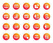 Seo Icons. Set Of Increase Sales, Business Ad Strategy And Website Optimization Icons. Puzzle, Web S poster
