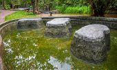 Image Of Water Pond At Pong Nam Ron Tha Pai Hot Spring The Famous Attraction Lanmark At Pai District poster