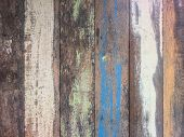 Pastel Wood Planks Material Texture Background. poster