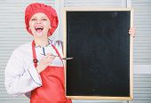 Learning Through Experience. Culinary Education In Cooking School. Master Cook Giving Cooking Class. poster