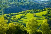 Green Idyll In The Rhoen In The Heart Of Bavaria, Germany poster