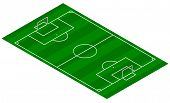 Football Pitch - Isometric 3D View