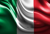 stock photo of italian flag  - Italian flag with some folds in it - JPG