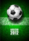 picture of football field  - Abstract art illustration soccer 2012 vector image - JPG