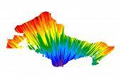 Honolulu City (united States Of America, Usa, U.s., Us, United States Cities, Usa City)- Map Is Desi poster