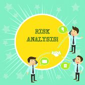 Text Sign Showing Risk Analysis. Conceptual Photo Review Of The Risks Associated With A Particular E poster