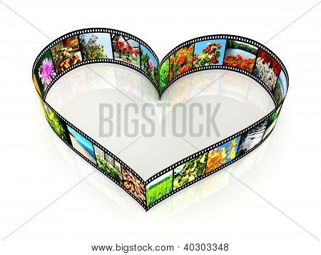 Heart Shaped Filmstrip