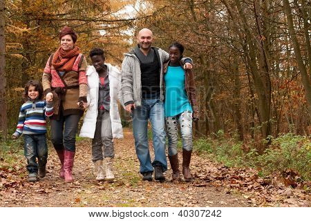Take A Walk With The multicultural Family