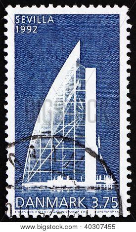 Postage Stamp Denmark 1992 Danish Pavilion, Expo 92, Seville