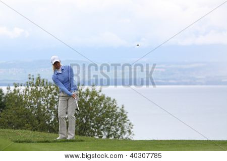 Suzann Pettersen (SWE) at The Evian Masters golf tournament 2011