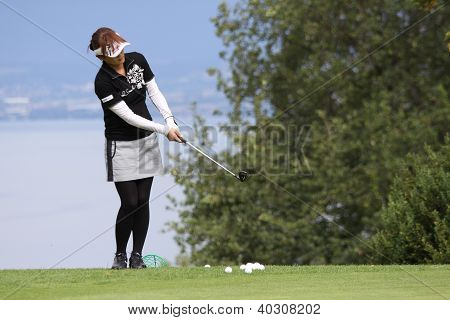Riu Kitada (JPN) at The Evian Masters golf tournament 2011