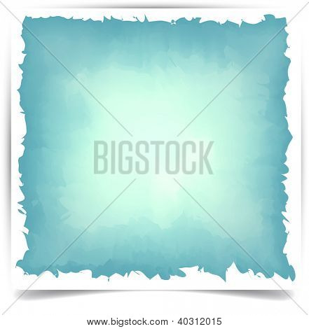 Vector Illustration of watercolor blue background. Eps10.