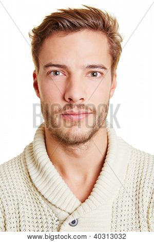 Head shot of a young attractive man