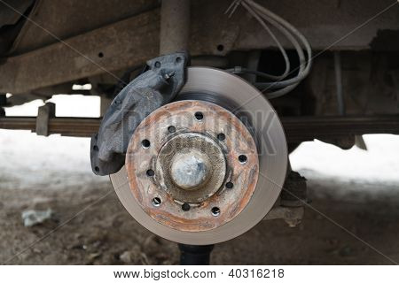 Front Disk Brake On A Old Car
