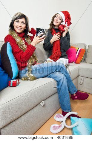 Sharing Christmas Presents