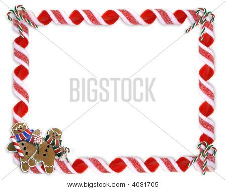 Christmas Frame Candy Cane Border