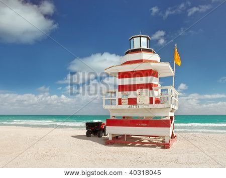 Miami Beach Florida, lifeguard house