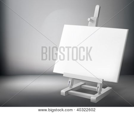 Easel. Vector illustration.