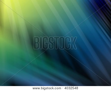 Abstract Shades Of Green And Blue