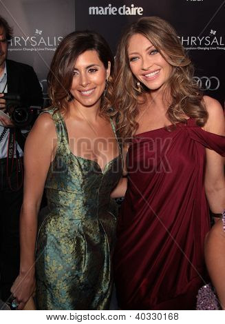 LOS ANGELES - JUN 01:  Jamie Lynn Sigler & Rebecca Gayheart arrives to the Chrysalis Butterfly Ball 10th Anniversary  on June 01, 2011 in Los Angeles, CA