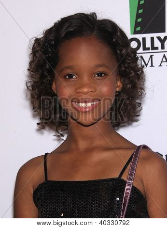 LOS ANGELES - OCT 22:  Quvenzhane Wallis arrives to Hollywood Film Awards Gala 2012  on October 22, 2012 in Beverly Hills, CA
