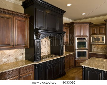 Luxury Center Island Kitchen Left Side