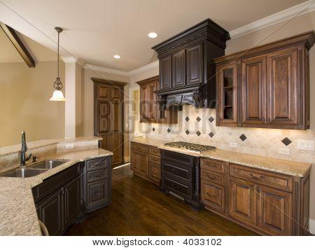 Luxury Diamond Tile Kitchen Right Side