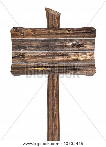 Blank Wooden Sign From Boards