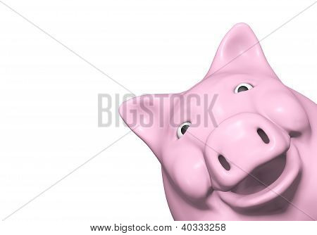 Piggy Bank Is Watching From A Corner