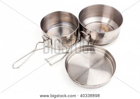 Camping Pot Spork Cup and Frying Pan Cookware for Mountain Camping
