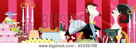 A celebration dinner