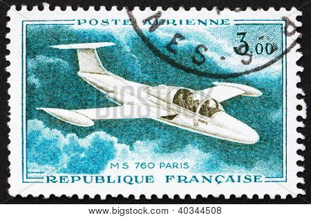 Postage stamp France 1960 Jet Plane, MS760, Paris