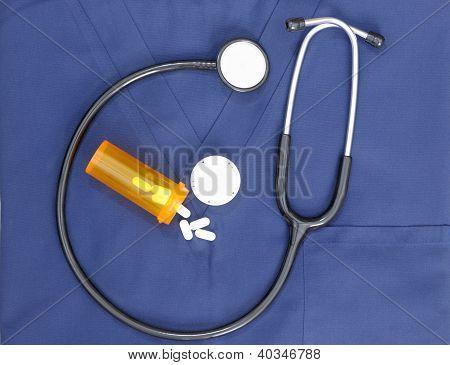 Stethoscope Scrubs Pill Bottle