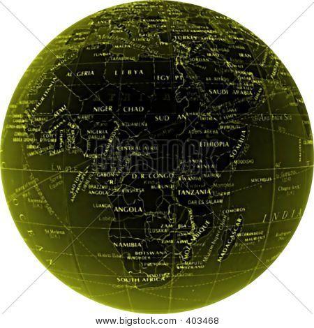 Globe Africa Onwhite