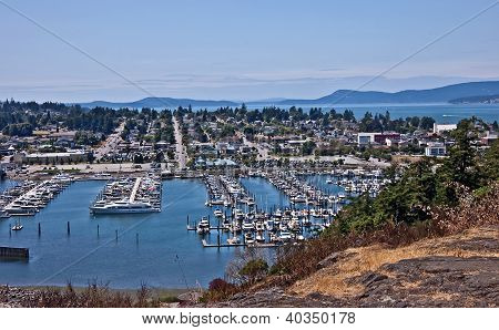 Aerial Landscape Of Anacortes, Washington