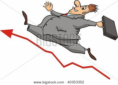 buisnessman and increase in the stock market