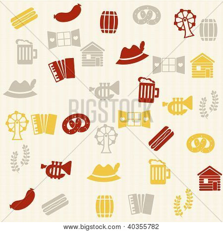 German seamless pattern