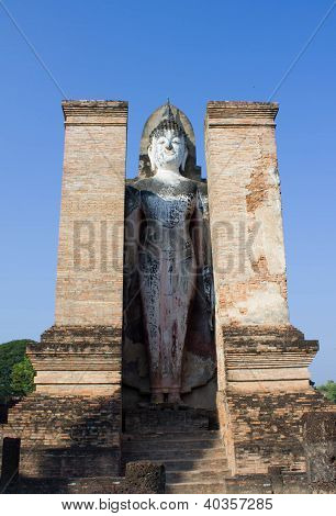 Ancient Buddha Statues In Historical Park
