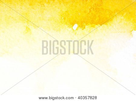 Abstract Yellow Watercolor Art