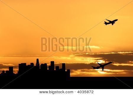 Plane Departing Los Angeles