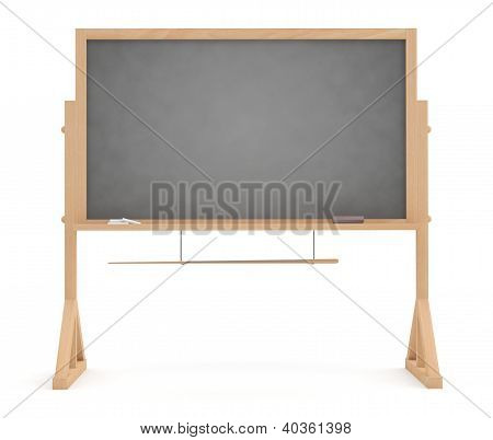 School Blackboard. 3D Model Isolated On White Background