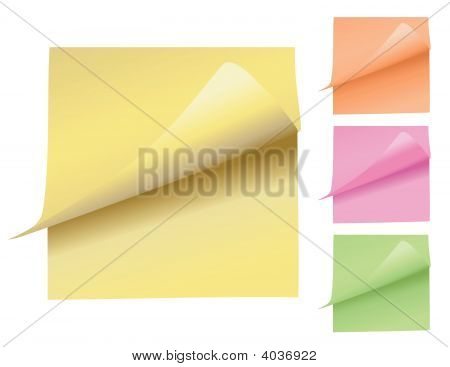 Colorful Note Pads Peeling Up