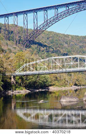 Bridges On New River In West Virginia