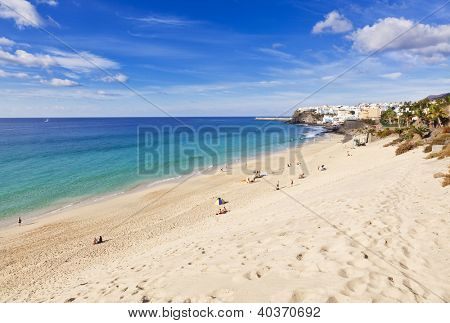 The beach at Morro Jable, Fuerteventura